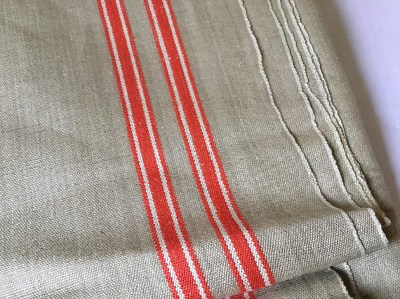 Vintage Antique Linen Continental cloth. Table runner.