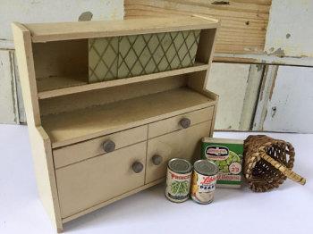 Vintage miniature kitchen dresser