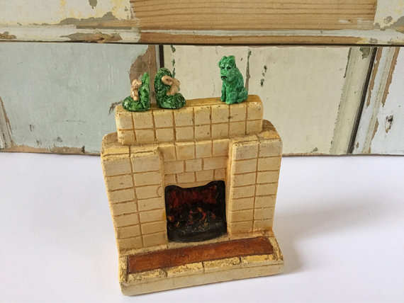 Vintage miniature fireplace