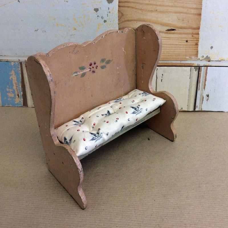 Vintage Miniature Furniture Bench