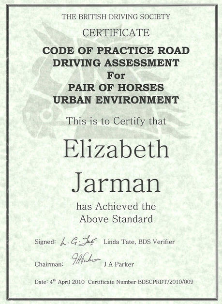 Driving-certificate