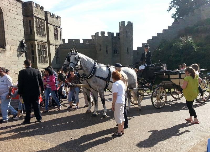 Weddings Grey pair Warwick Castle