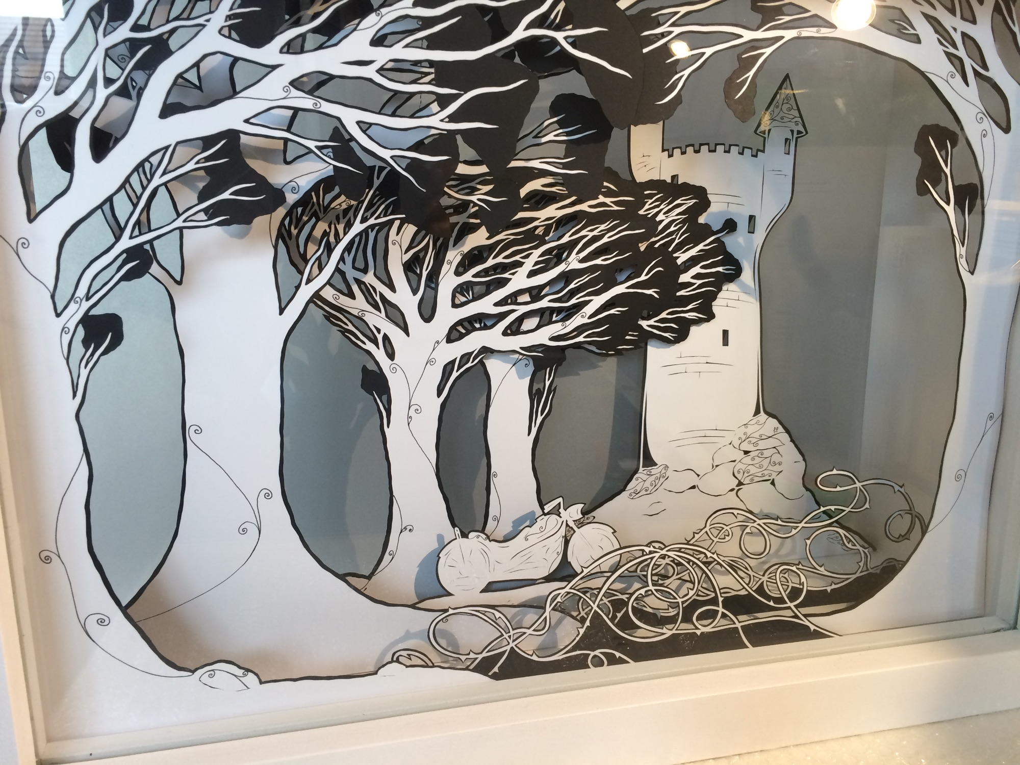 Papercut Lightbox by Frances Payne