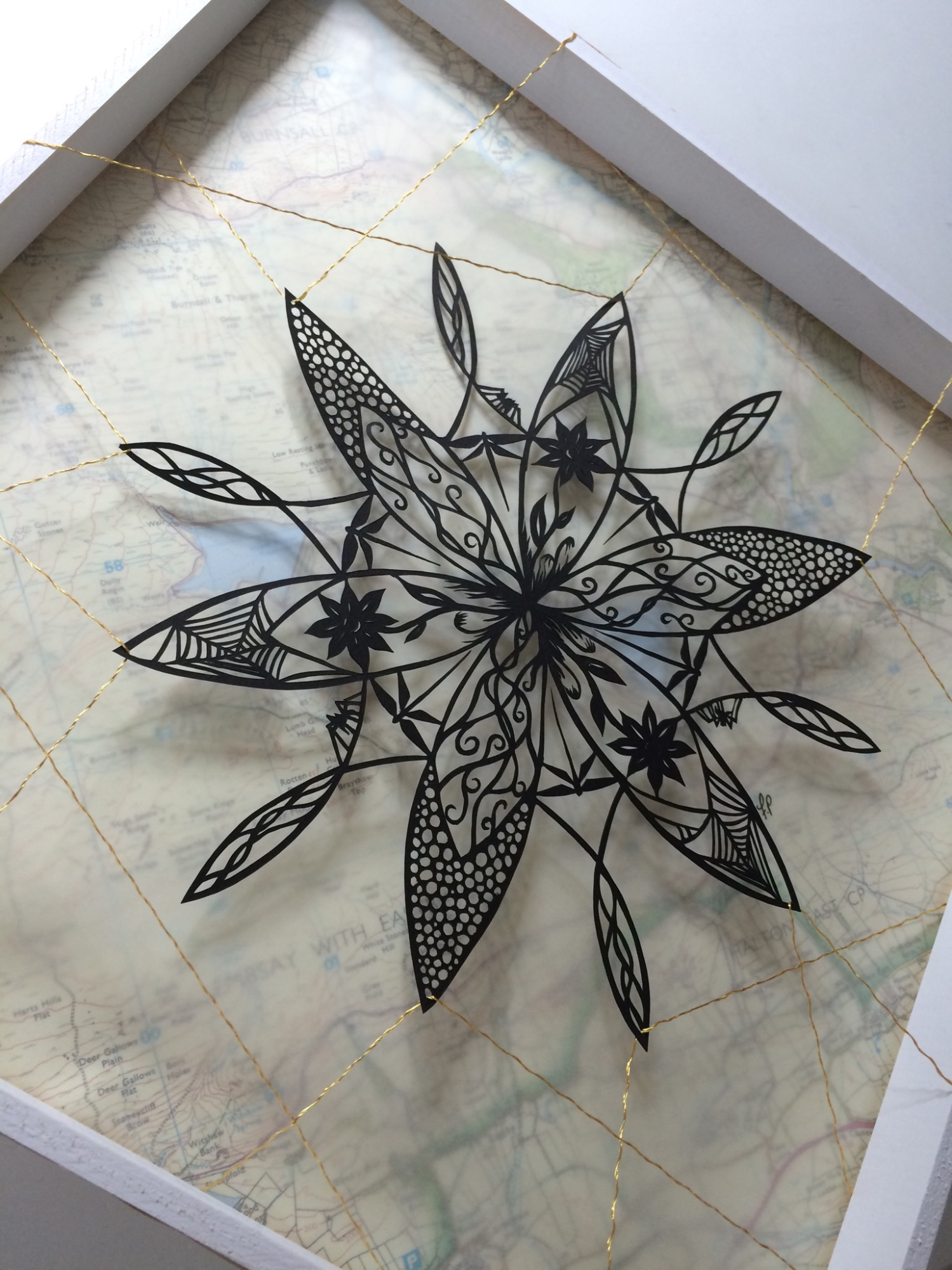 Somnium IV - Suspended Papercut by Frances Payne