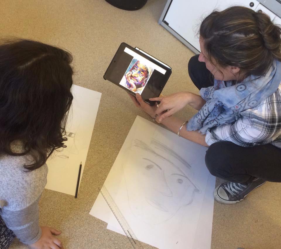 Teaching at Saturday Art Club Mercer Art Gallery