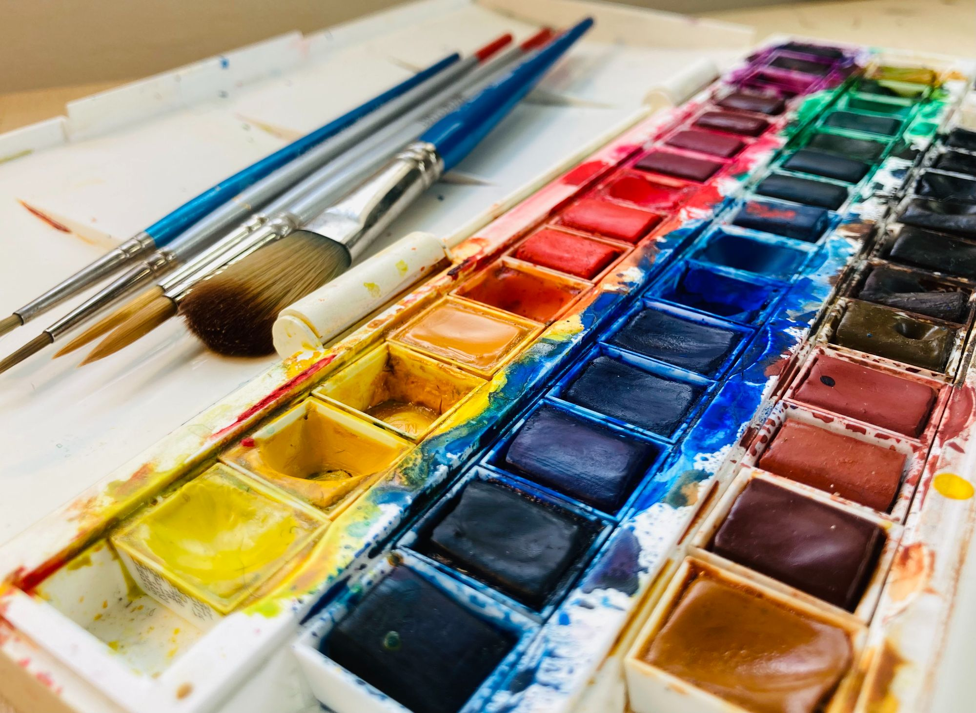 Working with watercolours classes in Knaresborough, North Yorkshire