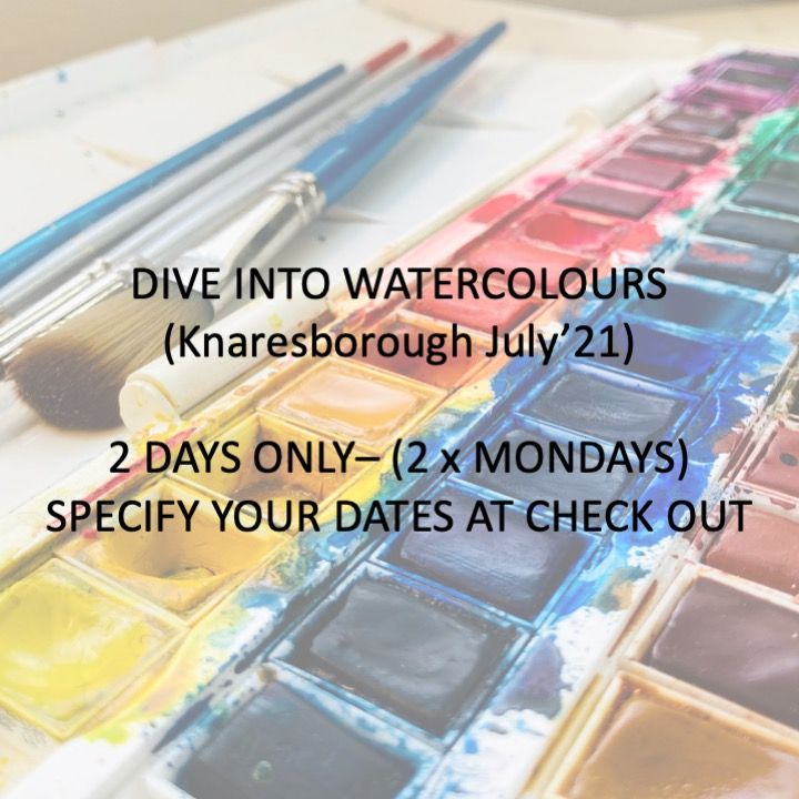 Pick & Mix - Dive into Watercolours (Hopewell Studios) 19th July 2021