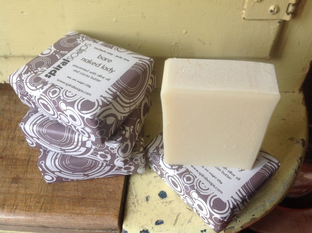 bare naked lady handmade soap