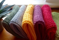 Handknitted Face Cloths