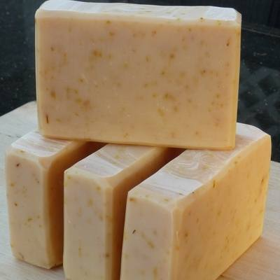 pure lemon calendula handmade soap
