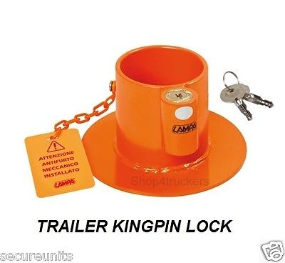 Lorry HGV truck trailer container Kingpin security lock coupling hook up