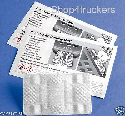 Truck Digital tachograph 2 x Smart Card Reader Cleaning Cards Waffle techno
