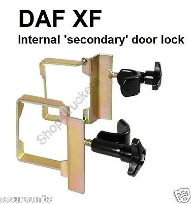 Lorry HGV truck  DAF  internal interior secondary door security lock