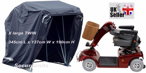 Mobility Scooter storage shelter canopy cover garage lockable black XL twin