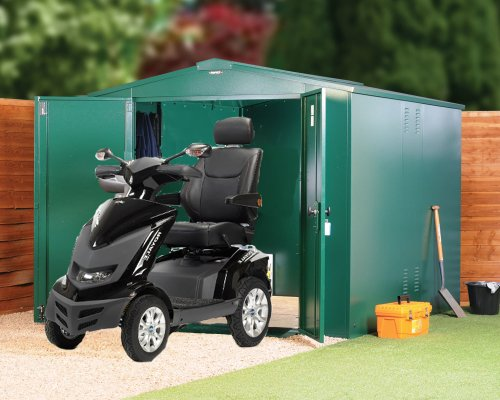 Mobility Scooter Store Metal storage XX Large (green) also available in bro