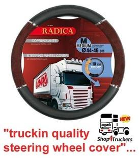 Lampa Lorry Truck HGV steering wheel cover medium 44cm / 46cm black with wa