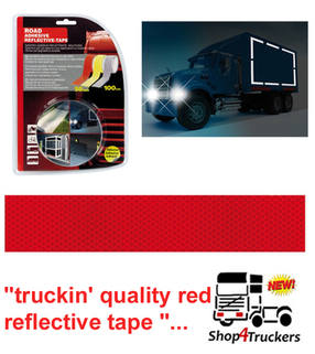 Lampa Truck lorry trailer red reflective tape 1m x 50mm