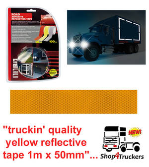 Lampa Truck lorry trailer yellow reflective tape 1m x 50mm
