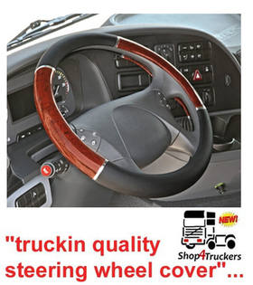 Lampa Lorry Truck HGV steering wheel cover X large 49 / 51cm walnut inserts