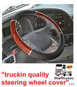 Lorry Truck HGV coach bus steering wheel cover XL 49 / 51cm walnut inserts Lampa