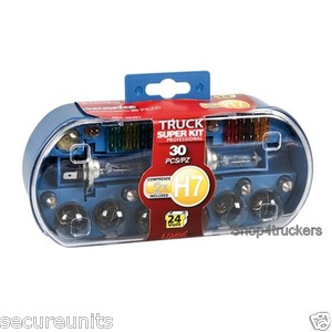 Lampa Lorry Truck HGV motorhome 24v H7 spare bulb kit with spare fuses