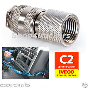 Iveco Truck lorry HGV air duster gun quick air line connector 13 bar kg