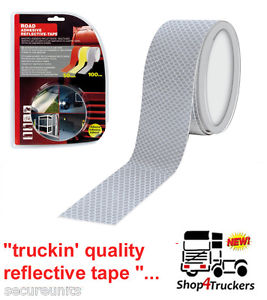 Truck lorry trailer motorcycle motorhome silver reflective tape 1m x 50mm