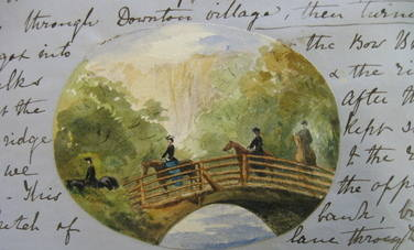 Fredericas Bow Bridge Drawing