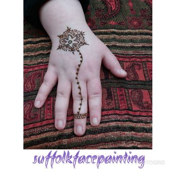 henna flower 1 finger