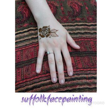 henna rose block
