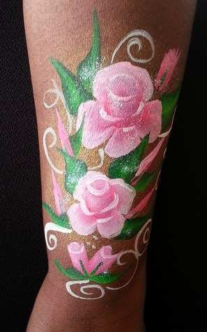 brown arm roses