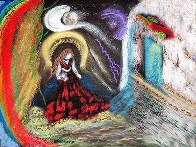 Celtic Goddess Greetings Card