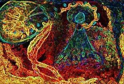 Cosmic Life Greetings Card
