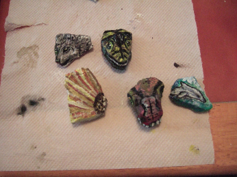 small stones painted