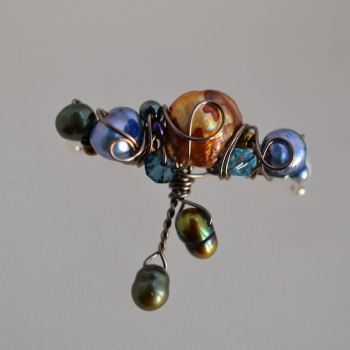 jewelart beaded brooch stems I