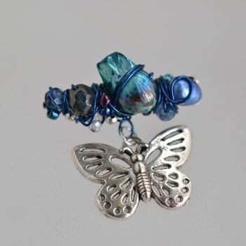 jewelart beaded brooch charm I