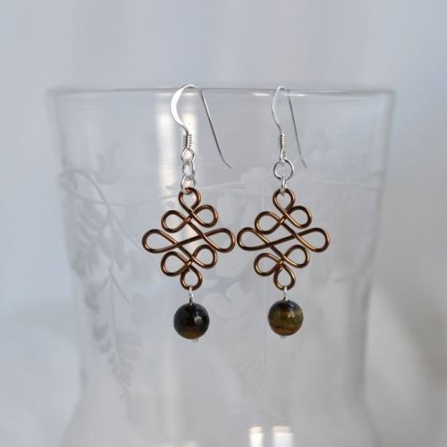 jewelart celtic earrings bronze III