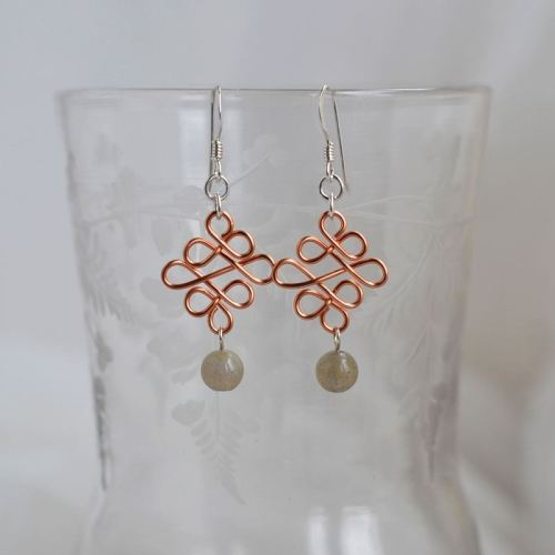 jewelart celtic earrings copper IV