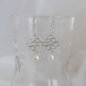 jewelart celtic earrings silver I