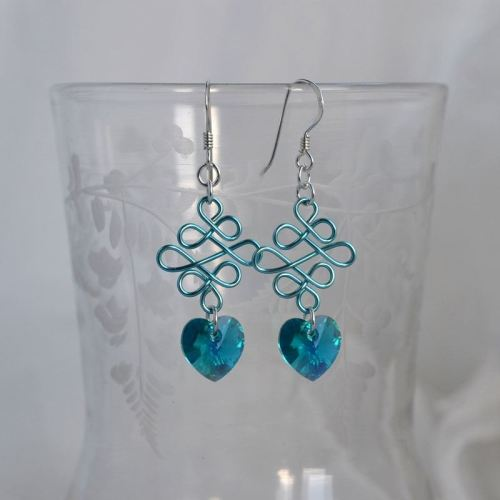 jewelart celtic earrings hearts I