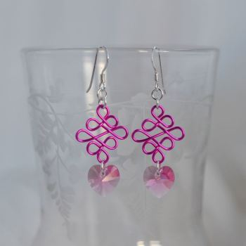 jewelart celtic earrings hearts II