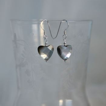 jewelart heart earrings shell