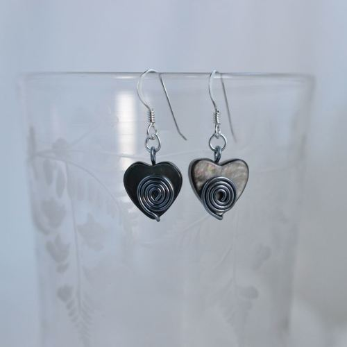 jewelart spiral earrings heart I
