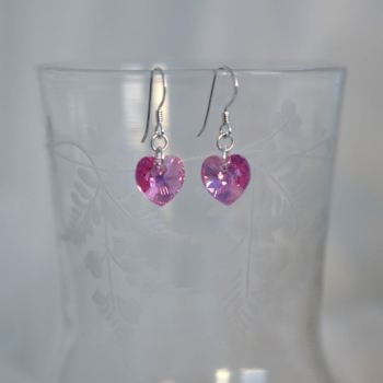 jewelart heart earrings pink