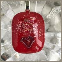 jewelart ashfusedglass pendant commission