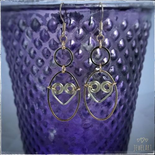 jewelart heart spiral hoop earrings GP