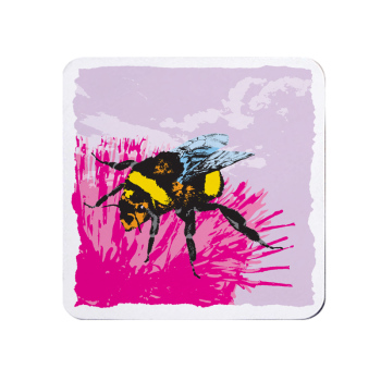 Bright Honey Bee Coaster