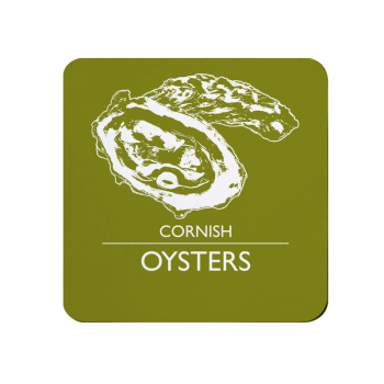 Cornish Oysters Coaster - Olive