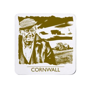 Cornwall Farmer Coaster - Melamine - Cornish Vibes