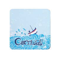 Melamine Coaster -  Cornwall Fishing Boat
